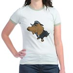 Male Dachshund Jr. Ringer T-Shirt