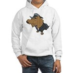 Male Dachshund Hooded Sweatshirt