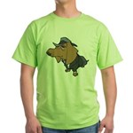 Male Dachshund Green T-Shirt