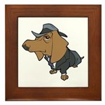 Male Dachshund Framed Tile