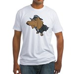 Male Dachshund Fitted T-Shirt