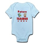 """Future Teacher"" Infant Bodysuits, t-shirts and baby bibs with teaching designs personalized for kids, infants to toddler age!  Future Teacher teddy bears and keepsakes, mugs and clocks also available in Red and Blue!  Click to browse our collections......"