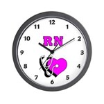 Career theme wall clocks with personalized designs for nurses! Our wall clocks are for RN's, LPN's and medical symbols for home or office decor.  Battery included you will be proud to display our nurse theme wall clocks.......