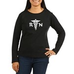 RN Symbol Women's Long Sleeve Dark T-Shirt