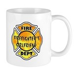 Firefighters Girlfriend Mug personalized with matching fireman's girlfriend t-shirts, personalized tote bags and other great gift ideas for the girlfriend of a firefighter......
