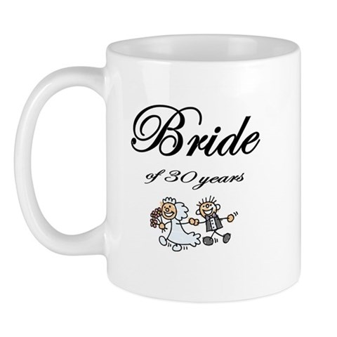 30th Wedding Anniversary Gifts Wedding anniversary Mug by CafePress