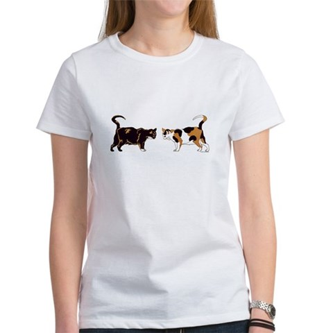Calico Cat Womens Tshirt Card $ 13.00