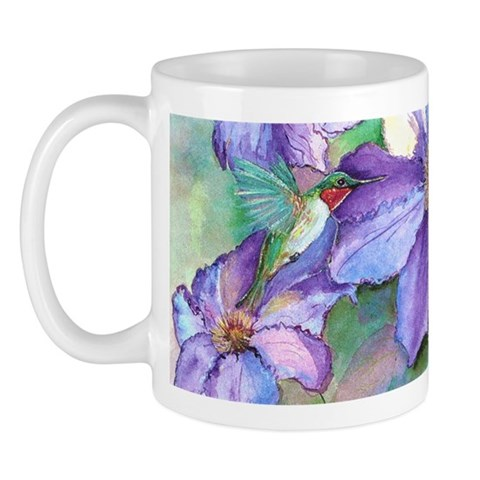 Hummingbird  Zoom View of art, Full Wrap Art Mug by CafePress