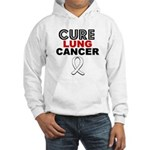 Cure Lung Cancer Hooded Sweatshirt