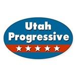 Utah Progressive Oval Car Sticker