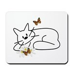 Kitty Daisies Mousepad