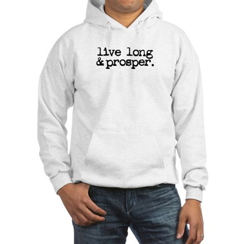 live long prosper. Funny Hooded Sweatshirt
