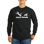 man down airedale Long Sleeve Dark T-Shirt
