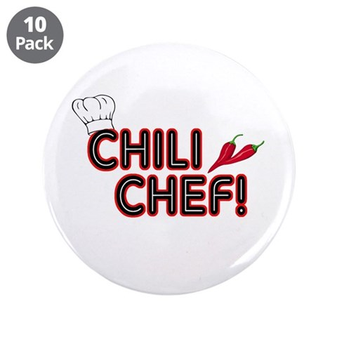 Chili Chef  Funny 3.5 Button 10 pack by CafePress