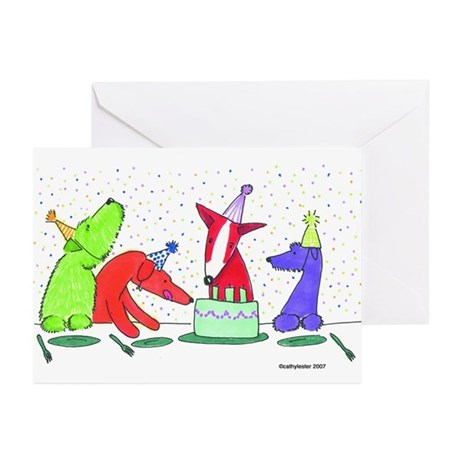 Party Dogs Greeting Cards (Pk of 10)