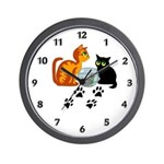 Time to show you love your cat with our cat lover theme wall clocks