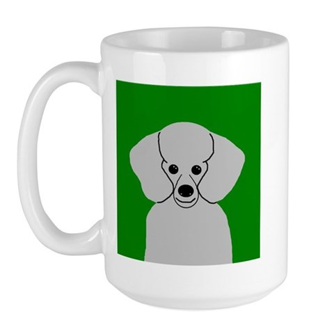 Poodle Grey Pets Large Mug by CafePress