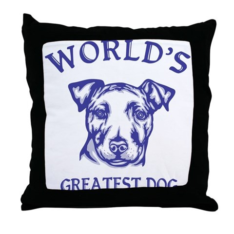 Irish Staffordshire Bull Terr Pets Throw Pillow by CafePress