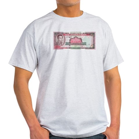 Ash Grey T-Shirt Haiti Light T-Shirt by CafePress