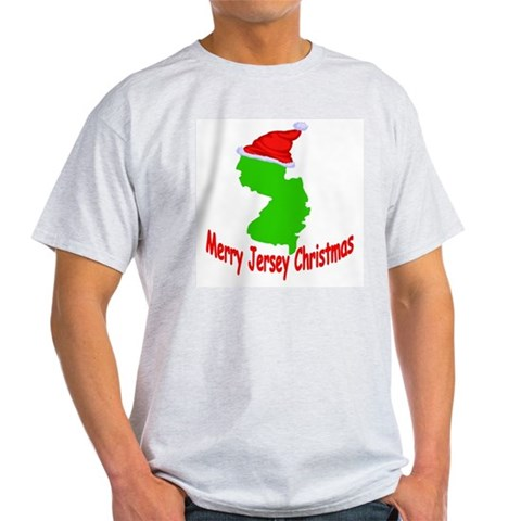 Merry Jersey Christmas Christmas Light T-Shirt by CafePress