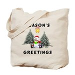 Holiday Snowman Tote Bags for Christmas shopping fun. Personalized holiday shopping bags are fun to go everywhere! Browse our Christmas themes including santa claus, candy canes and season's greetings designs!
