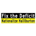 Fix the Deficit (bumper sticker)