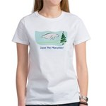 Save the Manatees Christmas Tree Women's T-Shirt