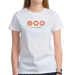 Peace Love Volleyball T by CafePress
