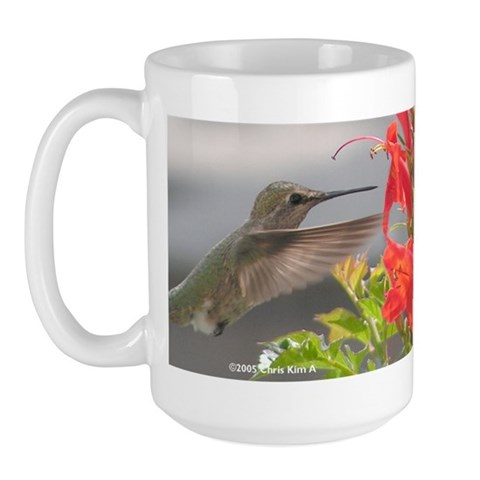 Large Hummingbird Mug Hummingbird Large Mug by CafePress