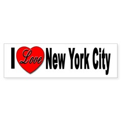 I Love New York City Sticker (Bumper)