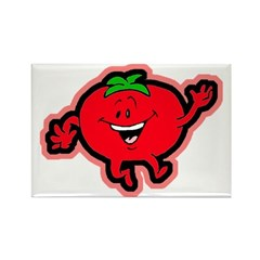 Dancing Tomato Rectangle Magnet