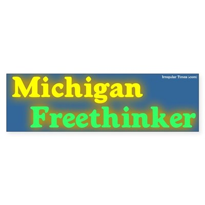 Michigan Freethinker Bumper Sticker