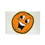 Happy Orange Rectangle Magnet