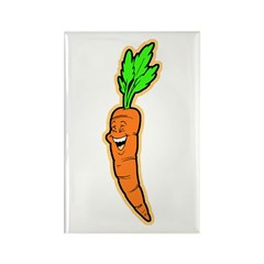 Happy Carrot Rectangle Magnet