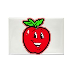 Happy Apple Rectangle Magnet