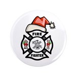 "Christmas Firefighters 3.5"" Button"
