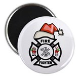 Christmas Firefighters Magnet