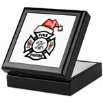 Christmas Firefighters Keepsake Box