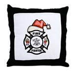 Christmas Firefighters Throw Pillow