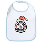 Christmas Firefighters Bib