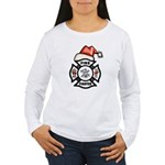 Christmas Firefighters Women's Long Sleeve T-Shirt