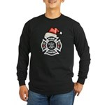 Christmas Firefighters Long Sleeve Dark T-Shirt