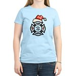 Christmas Firefighters Women's Light T-Shirt