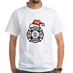 Christmas Firefighters White T-Shirt