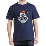 Christmas Firefighters Dark T-Shirt