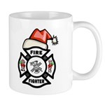 Christmas Firefighters Mug