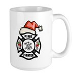 Christmas Firefighters Large Mug