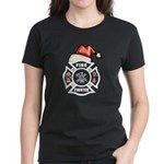 Christmas Firefighters Women's Dark T-Shirt