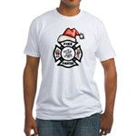 Christmas Firefighters Fitted T-Shirt