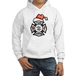 Christmas Firefighters Hooded Sweatshirt